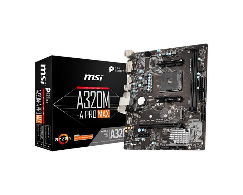 MSI-A320M-A-Pro-Max-AM4-Ryzen-DDR4-Dvi-Hdmi