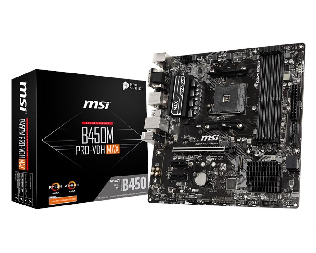 MSI-B450M-Pro-Vdh-Max-AM4-Ryzen-DDR4-Vga-Dvi-Hdmi