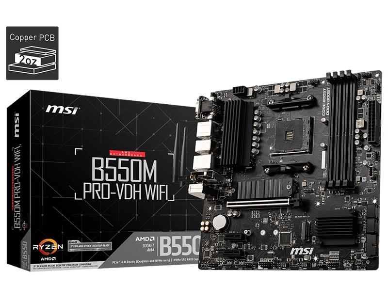 MSI-B550M-Pro-Vdh-Wifi-AM4-Ryzen-DDR4-Vga-Hdmi-Dp