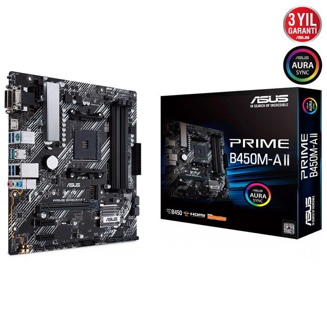 Asus-Prime-B450M-A-II-AM4-Ryzen-DDR4-Vga-Dvi-Hdmi