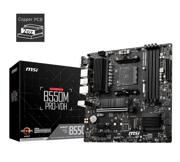 MSI-B550M-Pro-Vdh-AM4-Ryzen-DDR4-Vga-Hdmi-Dp