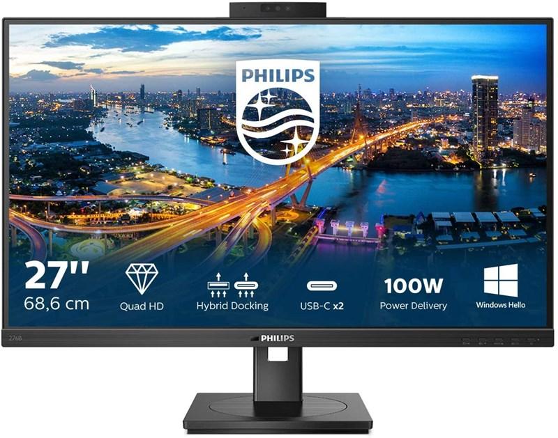 """Philips-27""""-276B1JH-00-4ms-QHD-MM-Hdmi-Dp-Usb-C"""
